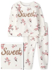 Toddler Floral French Terry Outfit Set