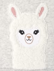 Toddler Girls Llama Outfit Set
