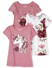 Toddler Girls Tunic Top 3-Pack