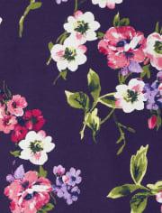 Vestido de niña con estampado floral