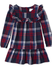 Toddler Girls Matching Family Plaid Shift Dress
