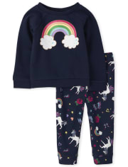 Toddler Girls Rainbow Outfit Set