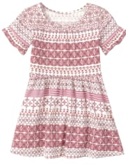 Baby And Toddler Girls Print Ruffle Dress