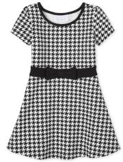 Vestido de punto Ponte de pata de gallo para bebés y niñas pequeñas
