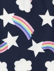 Toddler Girls Rainbow Striped Leggings 3-Pack