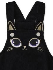 Conjunto de falda de gato de Halloween para niñas pequeñas