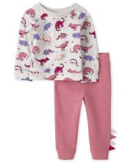 Toddler Girls Dino Outfit Set