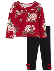 Toddler Girls Floral Outfit Set