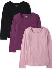 Girls Pocket Top 3-Pack
