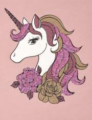 Top legging de unicornio para niñas