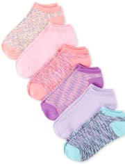 Girls Ankle Socks 6-Pack