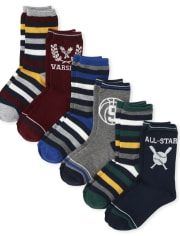 Boys Rugby Crew Socks 6-Pack