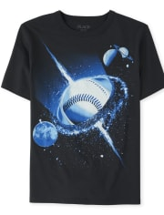 Boys Space Baseball Graphic Tee