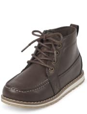 Boys Lace Up Mid Top Boots