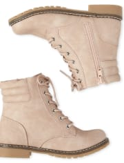 Girls Lace Up Booties