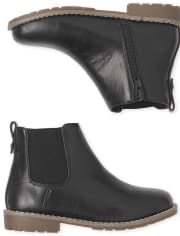 Boys Faux Leather Boots