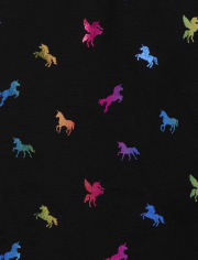 Girls Rainbow Unicorn Fleece Lined Leggings