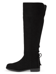 Girls Faux Suede Over The Knee Boots