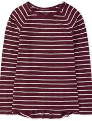 Camiseta básica de rayas para niñas