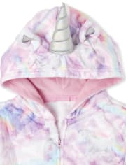 Womens Mommy And Me Unicorn Cloud Fleece Matching One Piece Pajamas