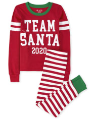 Unisex Kids Matching Family Team Santa Snug Fit Cotton Pajamas