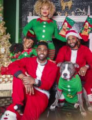 Unisex Kids Matching Family Elf Snug Fit Cotton Pajamas