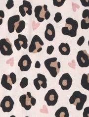 Girls Leopard Queen Snug Fit Cotton Pajamas
