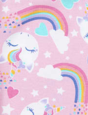 Girls Unicorn Snug Fit Cotton Pajamas