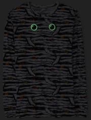 Unisex Adult Matching Family Halloween Glow Mummy Cotton Pajamas