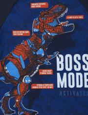 Boys Boss Mode Dino Pajamas