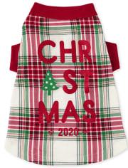 Dog Matching Family Christmas Tartan Cotton Pajamas