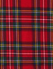 Unisex Baby And Toddler Matching Family Tartan Snug Fit Cotton One Piece Pajamas