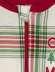 Unisex Baby And Toddler Matching Family Christmas Tartan Snug Fit Cotton One Piece Pajamas