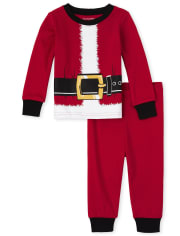 Unisex Baby And Toddler Matching Family Santa Suit Snug Fit Cotton Pajamas
