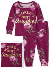 Pijamas de algodón con ajuste ceñido a juego para bebés y niñas pequeñas, mamá y yo