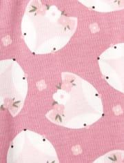 Baby And Toddler Girls Fox Snug Fit Cotton Pajamas