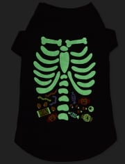 Dog Matching Family Halloween Glow Candy Skeleton Snug Fit Cotton Pajamas