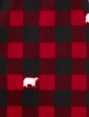 Unisex Baby And Toddler Matching Family Bear Buffalo Plaid Snug Fit Cotton And Fleece Pajamas
