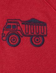 Toddler Boys Truck Sherpa Zip Up Hoodie