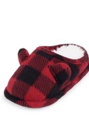 Zapatillas de cuadros de búfalo familiares a juego para niños pequeños unisex