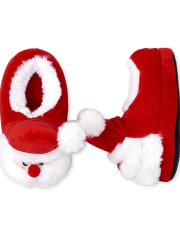Pantuflas de Papá Noel familiares a juego para niños pequeños unisex