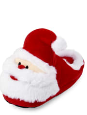 Unisex Kids Matching Family Santa Slippers