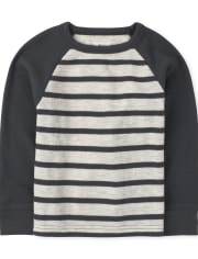 Baby And Toddler Boys Striped Thermal Top