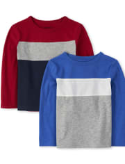 Baby And Toddler Boys Colorblock Top 2-Pack