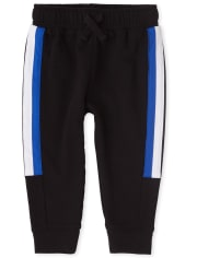 Baby And Toddler Boys Active Side Stripe Fleece Jogger Pants