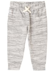 Baby And Toddler Boys Active Marled French Terry Jogger Pants
