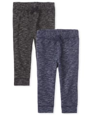 Baby And Toddler Boys Active Fleece Jogger Pants 2-Pack