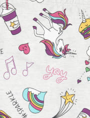 Girls Unicorn Doodle Leggings