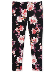 Girls Floral Leggings