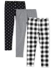 Girls Gingham Leggings 3-Pack
